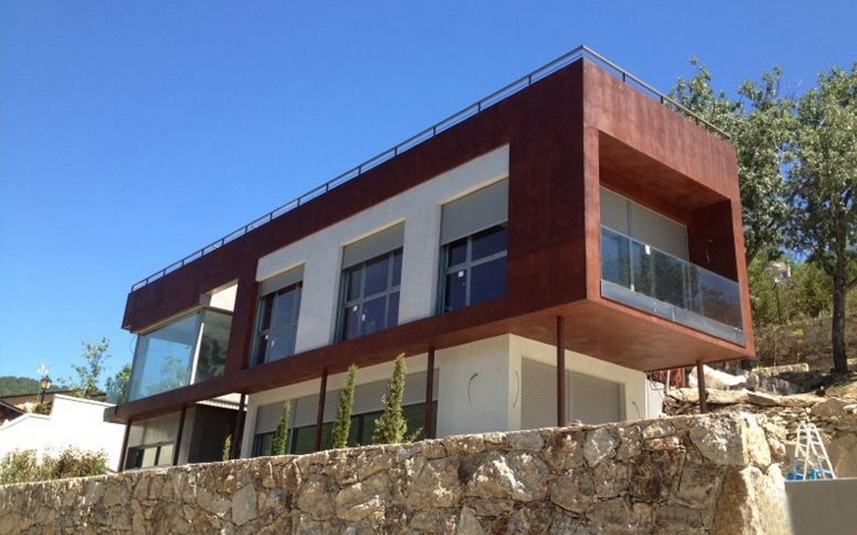 Fachadas exteriores colores para fachadas de casas feng - Piedra para exteriores casas ...